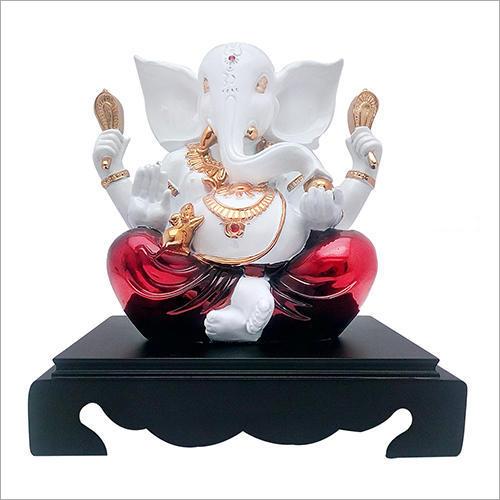 White Look Lord Ganesha Idol