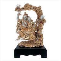Gold Plated Lord Radha Krishna Statue