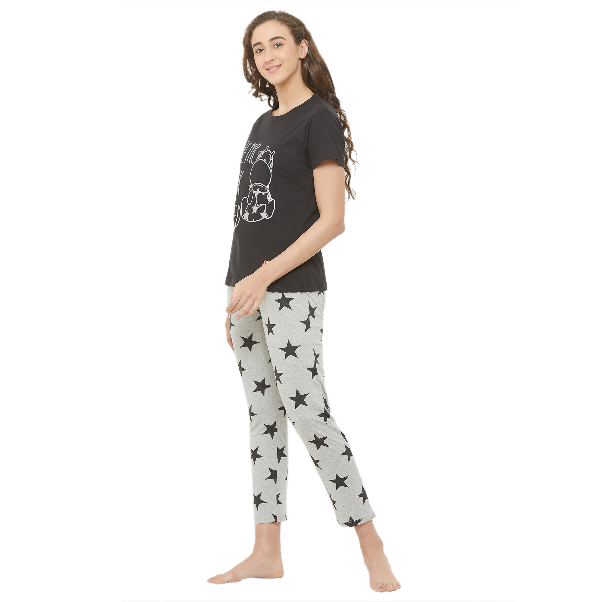 Evolove Ladies Star Printed Night Suit