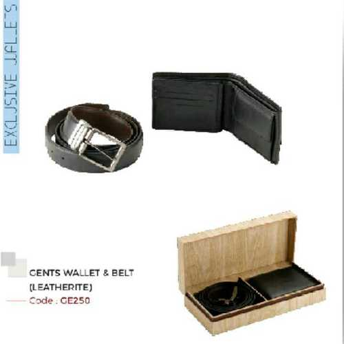 mens leather wallet and balts