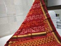 Silk Cotton Ikkat Saree