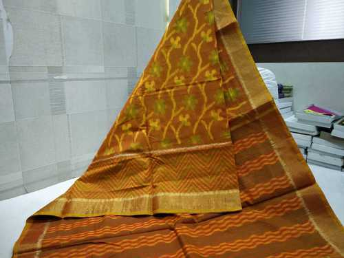 ikkat silk cotton saree