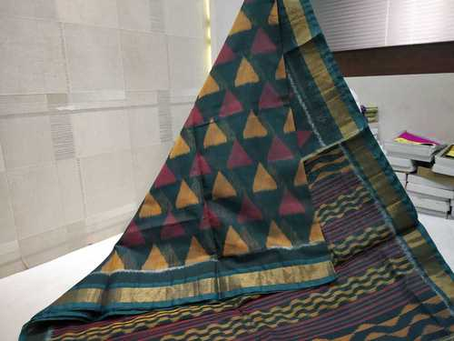 Silk Cotton Ikkat Designer Saree