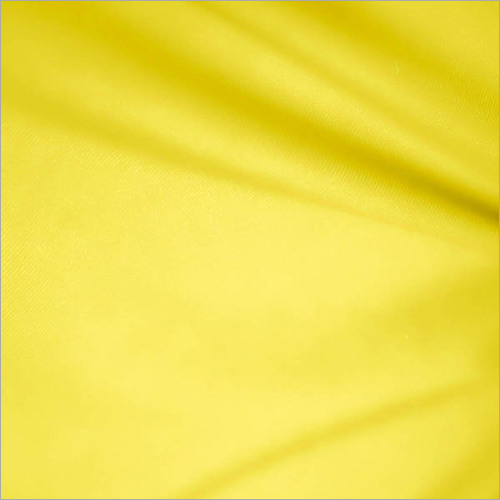 Yellow Polyester Cotton Fabric