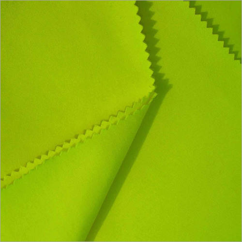 Parrot Green Polyester Cotton Fabric