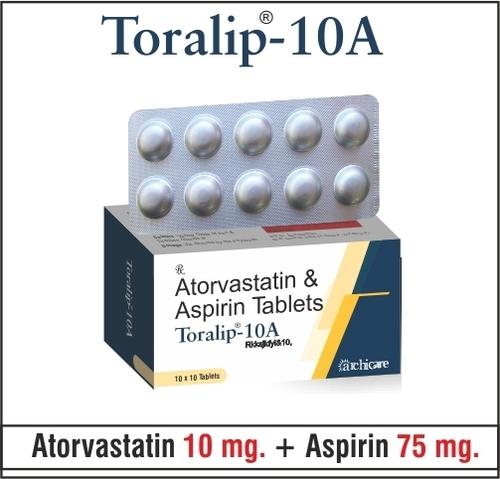 Atorvastatin 10mg +  Aspirin 75mg