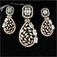 Real Diamond Pendant Set