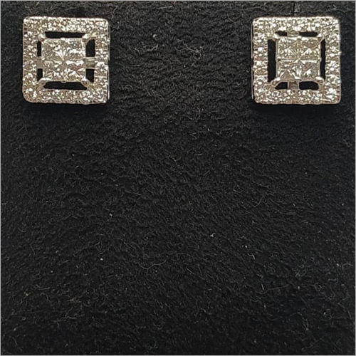 Diamond Squares Earring