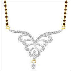 Simple Diamond Mangalsutra