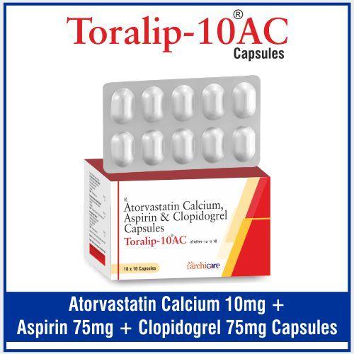 Atorvastatin 10mg +  Aspirin 75mg+  Clopidogrel 75mg