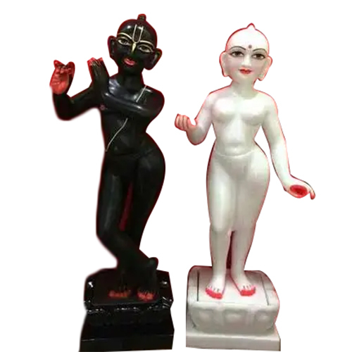 Radha Krishna In Marble