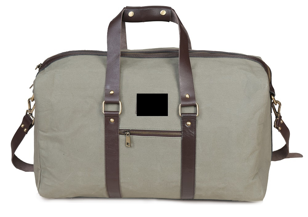 Waxed Canvas & Leather Travel Bag