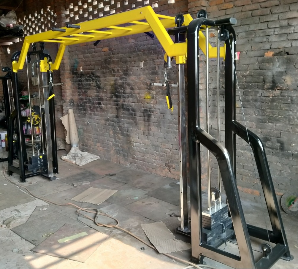 Cable Cross Over With Monkey Bar