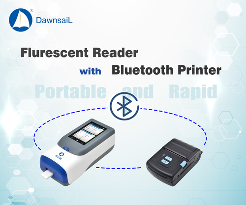 Portable Quantitative Fluorescent Reader with Bluetooth printer, WIFI and barcode scaning