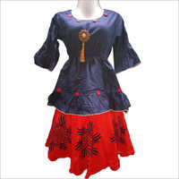 Girls Designer Top With Skirt