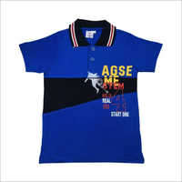 Kids Fancy Polo Neck T Shirt