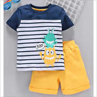 Kids Half Sleeve T Shirt With Shorts Set