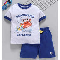 Kids Designer T Shirt With Shorts Set
