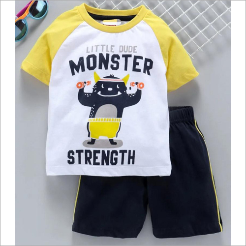 Kids Fancy T Shirt With Shorts Set