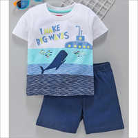 Kids Fashionable T Shirt With Shorts Set