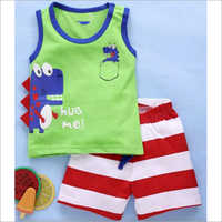 Kids Sleeve Less T Shirt With Shorts Set