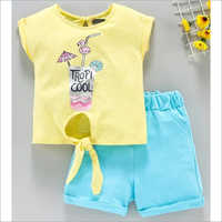 Kids Cotton Top With Shorts Set