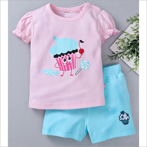 Kids Fancy Top With Shorts Set