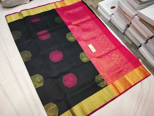Pure Kanchipuram Soft Silk Butta Saree
