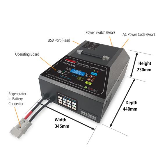 Prime RPT-E400 Universal Battery Regenerator