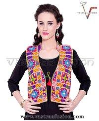 Multi Colour Embroidered Festival Wear Short Jacket / Shrug