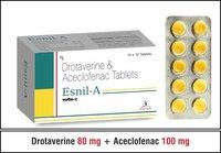 Drotaverine  80 mg. + Paracetamol 325 mg.