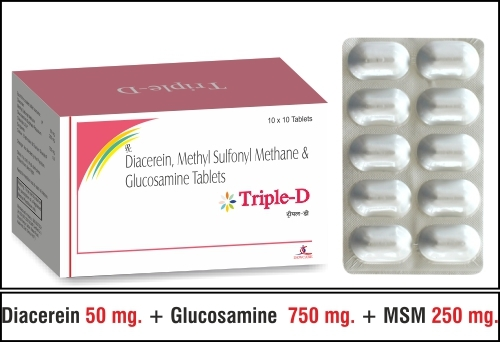Diacerine 50 mg.  + MSM 250 mg + Glucosamine 750 mg