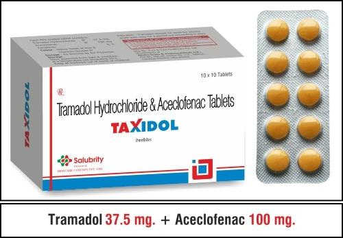 Tramadol  37.5 mg. + Aceclofenac 100 mg.