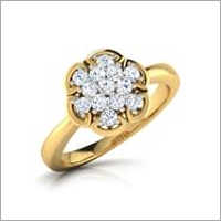 Floral Design Gold Platinum Ring