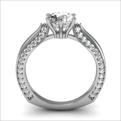 Platinum Stud Ladies Ring