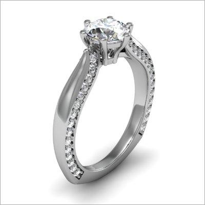 Platinum Stud Ladies Ring