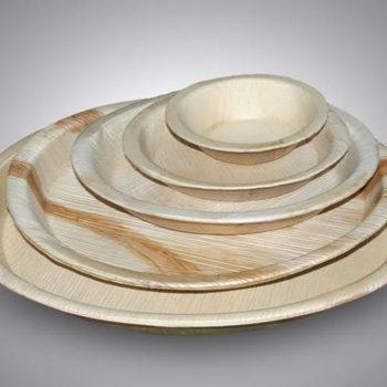 Biodegradable Areca Round Plate