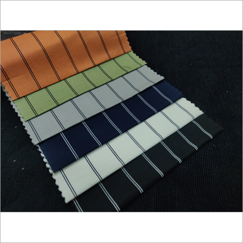 Lycra Stripe Printed Fabric