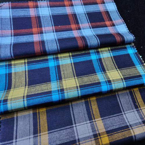 Yarn Dyed Twill Checks Shirting Fabrics