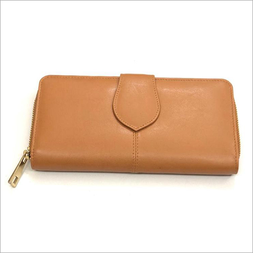 Leather Zipper Hand Purse
