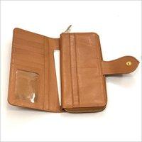 Leather Zipper Hand Purse