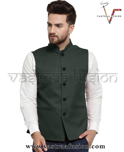 Men Plain Festive Wear Nehru Jacket