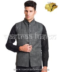 Men Plain Festive Wear Nehru Jacket