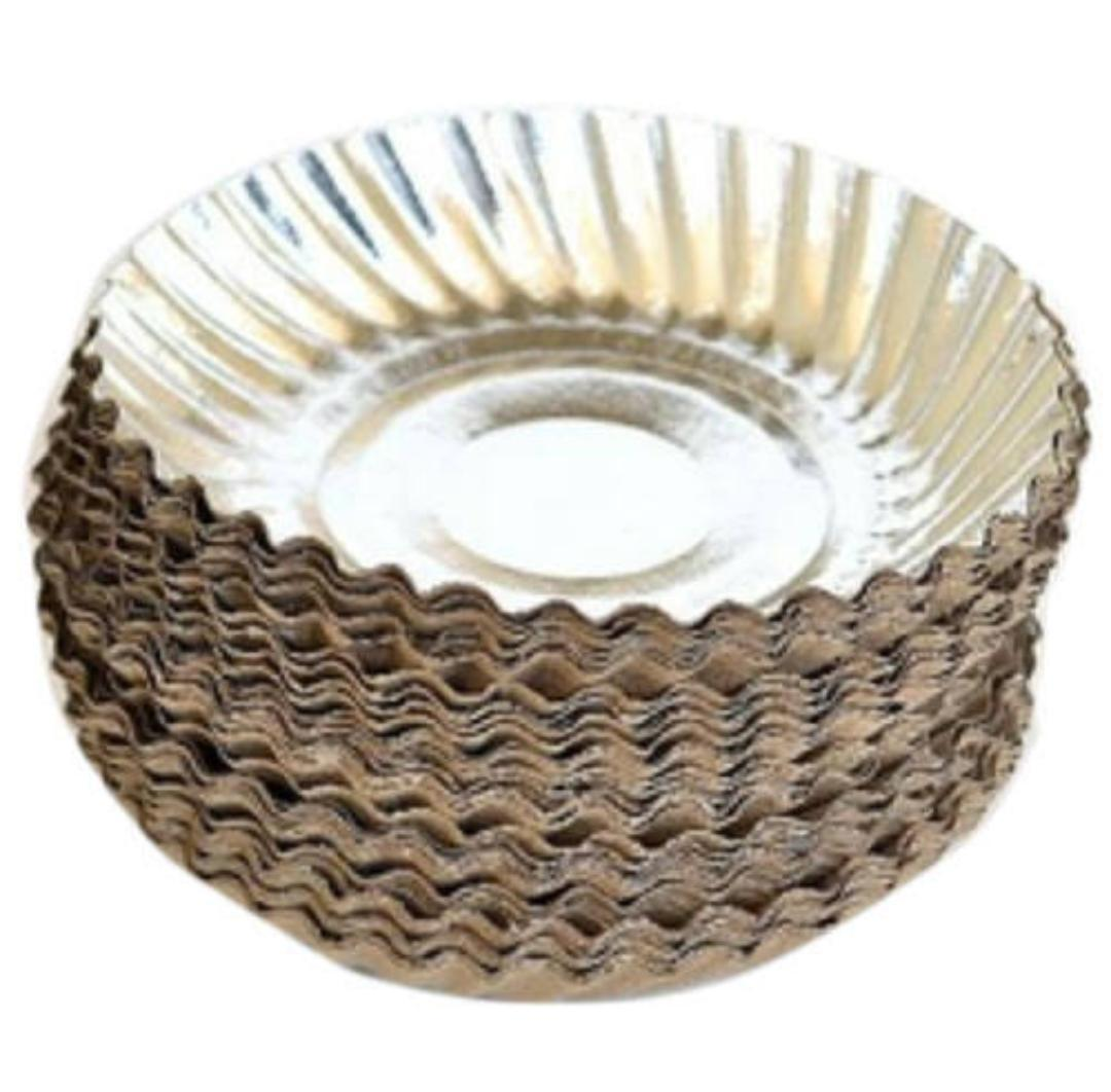Silver Laminated Wrinkle Paper Plate
