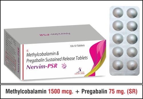 Methylcobalamin 1500 mcg. + Pregabalin 75 mg.