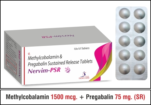 Methylcobalamin  1500 mcg. + Pregabalin 75 mg.
