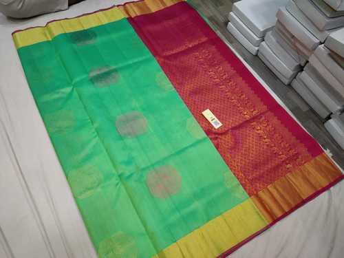 Pure Kanchipuram Butta Soft Silk Saree