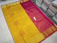 Pure Silk Butta One and Half Wrap Silk Saree