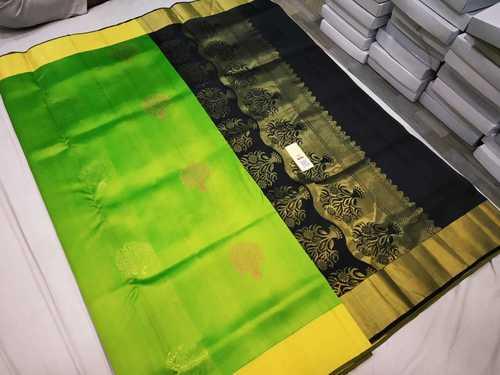 Pure One and Half Warp Silk Saree