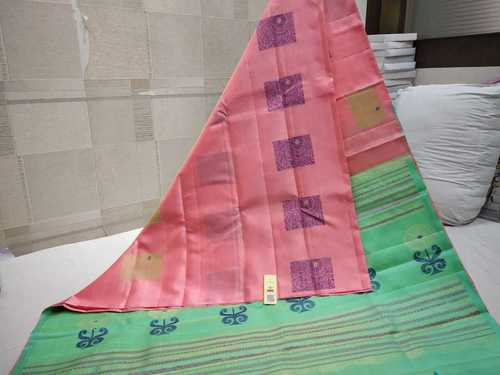 Pure Kanchipuram Soft Silk Saree Without Border